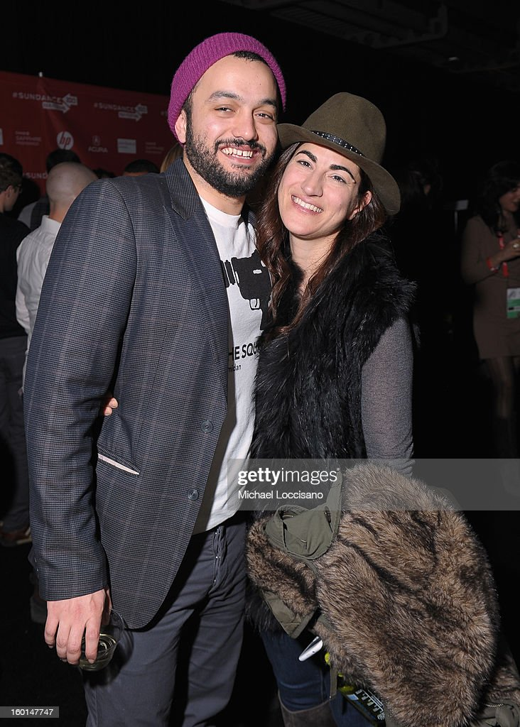 Director Jehane Noujaim (R) attends the Awards Night Party during the 2013 Sundance Film Festival at Basin Recreation Field House on January 26, 2013 in Park City, Utah.