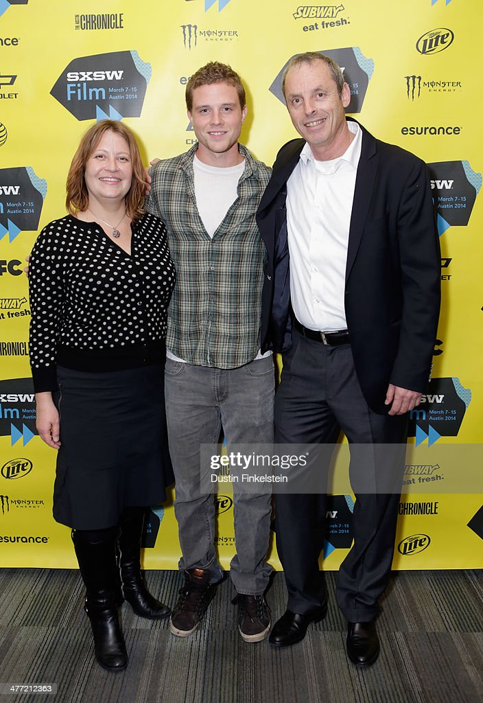 Director Jen McGowan, actor <a gi-track='captionPersonalityLinkClicked' href=/galleries/search?phrase=Jonny+Weston&family=editorial&specificpeople=8809342 ng-click='$event.stopPropagation()'>Jonny Weston</a> and producer Ishay Mor attend the 'Kelly & Cal' Photo Op and Q&A during the 2014 SXSW Music, Film + Interactive Festival at Rollins Theatre at The Long Center on March 7, 2014 in Austin, Texas.