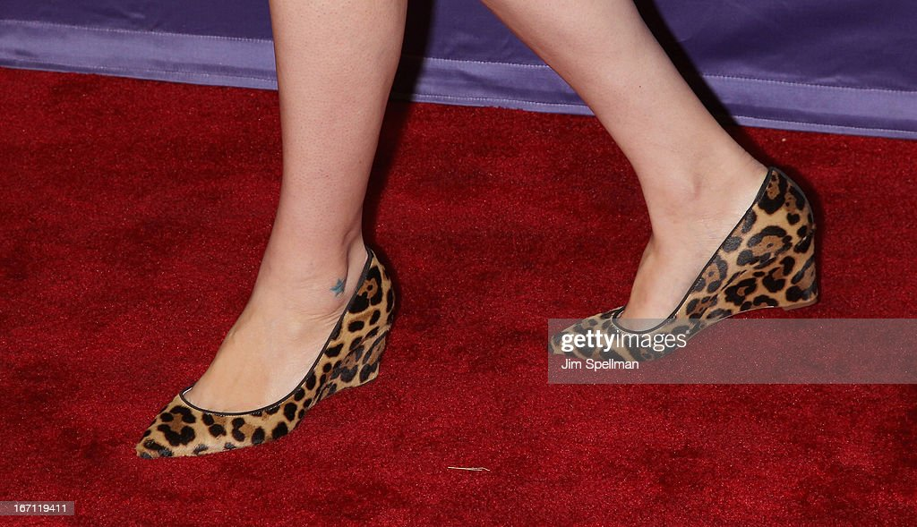 Director Jenee LaMarque (shoe detail) attends the screening of 'The Pretty One' during the 2013 Tribeca Film Festival at SVA Theater on April 20, 2013 in New York City.