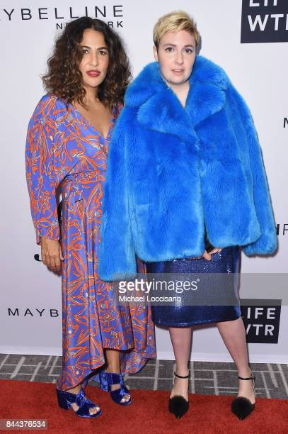 Director Jenni Konner and actress Lena Dunham attend the Daily Front Row's Fashion Media Awards at Four Seasons Hotel New York Downtown on September...