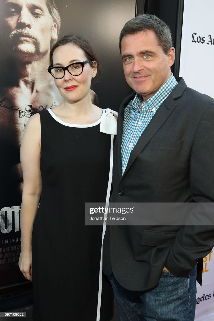 Director Jennifer Cochis and Film Independent President Josh Welsh attend the AT&T And Saban Films Present The LAFF Gala Premiere Of Shot Caller at ArcLight Cinemas on June 17, 2017 in Culver City, California.