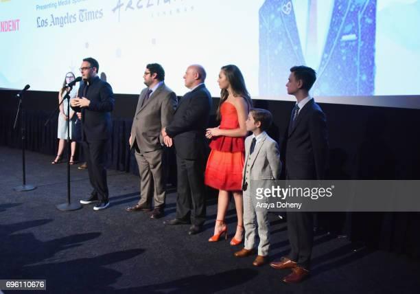 LAFF Director Jennifer Cochis director Colin Trevorrow and actors Bobby Moynihan Dean Norris Maddie Ziegler Jacob Tremblay and Jaeden Lieberher...