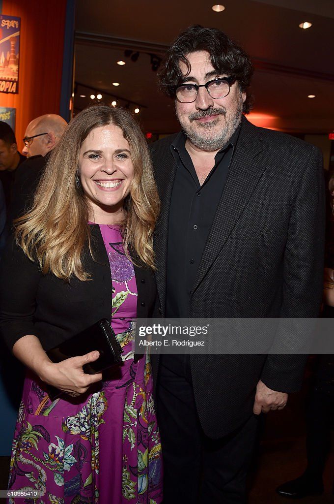 Director Jennifer Lee and actor Alfred Molina attend the Los Angeles premiere of Walt Disney Animation Studios' 'Zootopia' on February 17 2016 in...