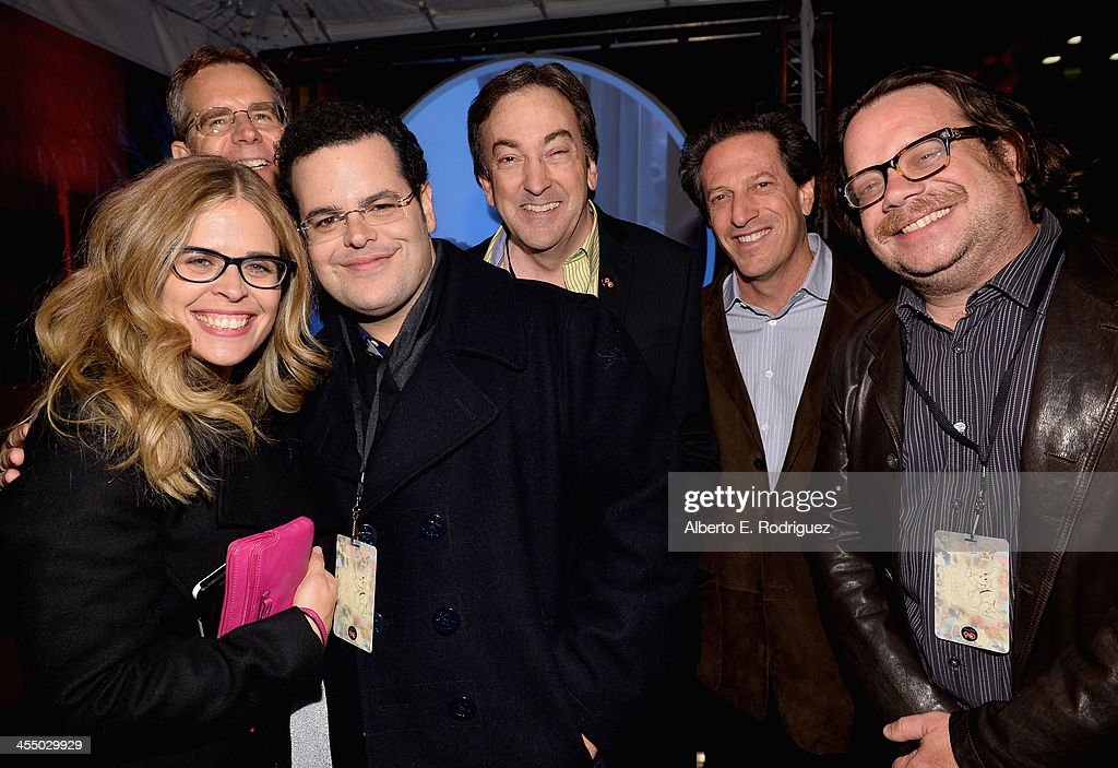 Director Jennifer Lee, director Chris Buck, actor <a gi-track='captionPersonalityLinkClicked' href=/galleries/search?phrase=Josh+Gad&family=editorial&specificpeople=4196023 ng-click='$event.stopPropagation()'>Josh Gad</a>, Producer Peter Del Vecho, General Manager, Walt Disney Animation Studios Andrew Millstein and composer Christophe Beck attend the 90 Years of Disney Animation celebration at Walt Disney Studios on December 10, 2013 in Burbank, California.