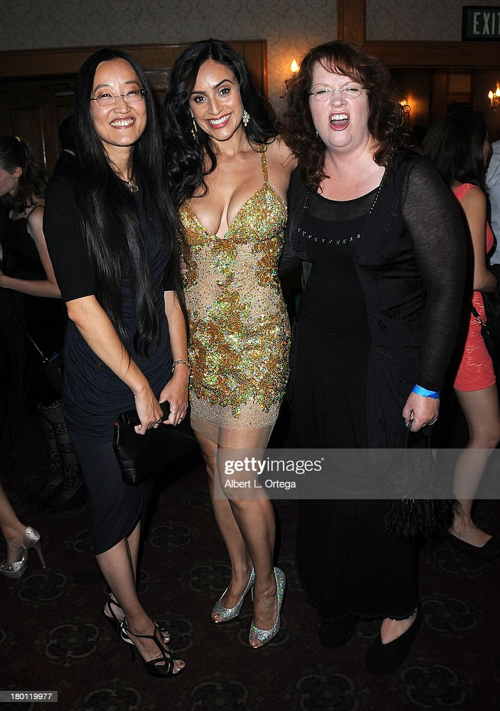 Director Jennifer Yuh, actress Valerie Perez and director <a gi-track='captionPersonalityLinkClicked' href=/galleries/search?phrase=Brenda+Chapman&family=editorial&specificpeople=5707596 ng-click='$event.stopPropagation()'>Brenda Chapman</a> attend The Burbank Film Festival - Closing Night Gala Dinner and Awards Ceremony held at Castaways on September 8, 2013 in Burbank, California.