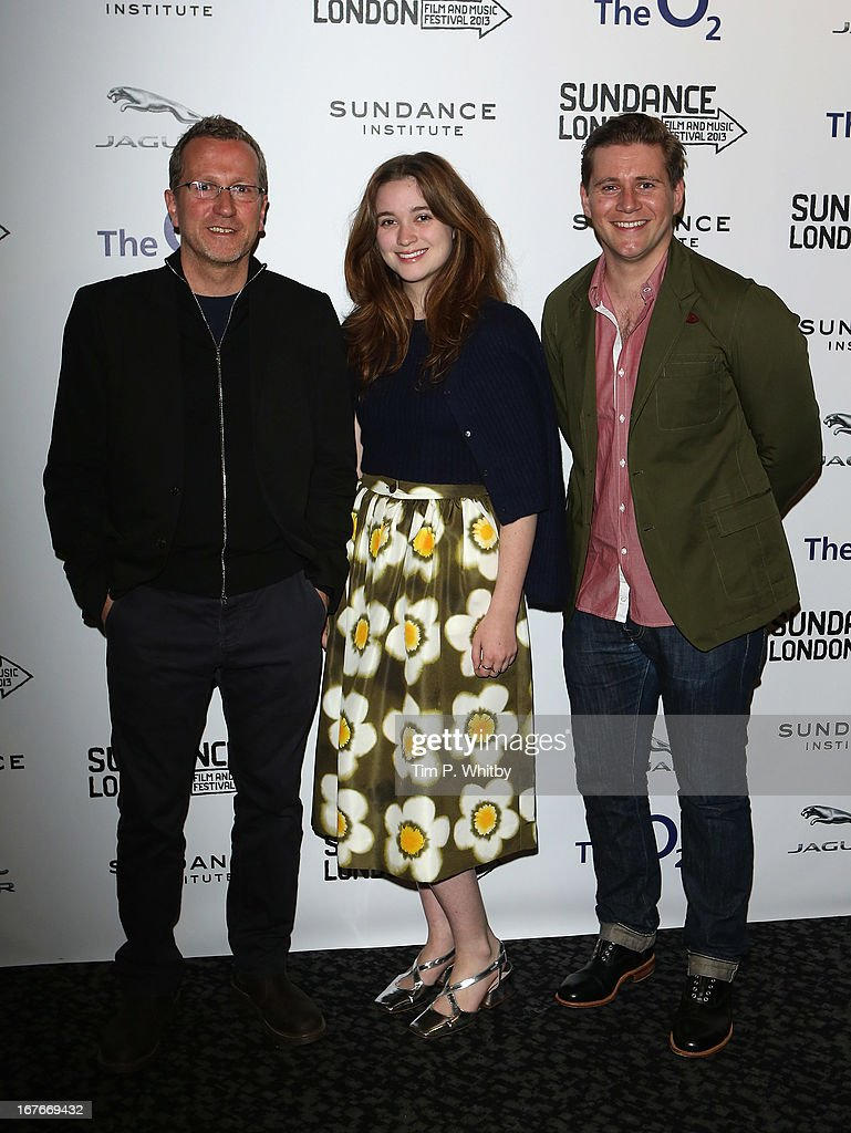 Director Jeremy Lovering and actors <a gi-track='captionPersonalityLinkClicked' href=/galleries/search?phrase=Alice+Englert&family=editorial&specificpeople=616562 ng-click='$event.stopPropagation()'>Alice Englert</a> and <a gi-track='captionPersonalityLinkClicked' href=/galleries/search?phrase=Allen+Leech&family=editorial&specificpeople=2167022 ng-click='$event.stopPropagation()'>Allen Leech</a> attend the 'In Fear' screening during the Sundance London Film And Music Festival 2013 at Sky Superscreen O2 on April 27, 2013 in London, England.