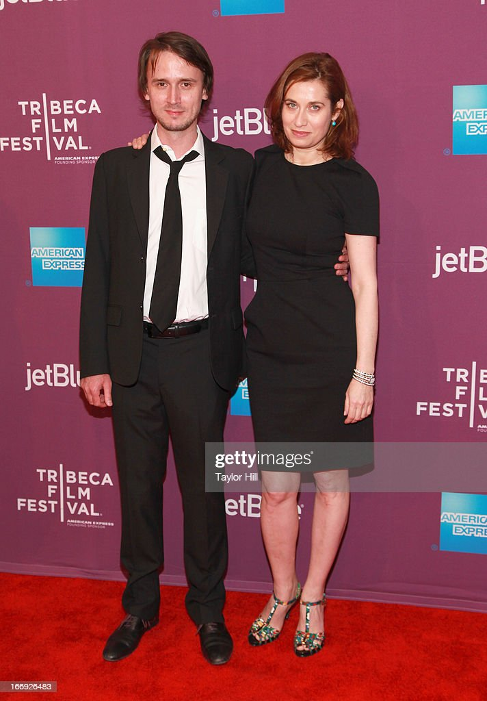 Director Jerome Bonnell and actress Emmanuelle Devos attends the 'Just A Sigh' world premiere during the 2013 Tribeca Film Festival on April 18 2013...