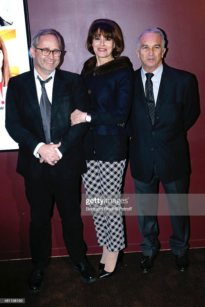 Director Jerome Cornuau, actress <a gi-track='captionPersonalityLinkClicked' href=/galleries/search?phrase=Fanny+Ardant&family=editorial&specificpeople=221685 ng-click='$event.stopPropagation()'>Fanny Ardant</a> and producer <a gi-track='captionPersonalityLinkClicked' href=/galleries/search?phrase=Alain+Terzian&family=editorial&specificpeople=2455092 ng-click='$event.stopPropagation()'>Alain Terzian</a> attend the 'Chic !' Paris Premiere at Gaumont Marignan Cinema on January 6, 2015 in Paris, France.