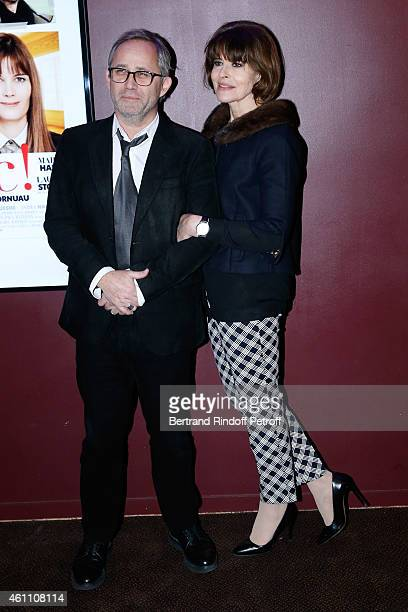 Director Jerome Cornuau and actress Fanny Ardant attend the 'Chic ' Paris Premiere at Gaumont Marignan Cinema on January 6 2015 in Paris France