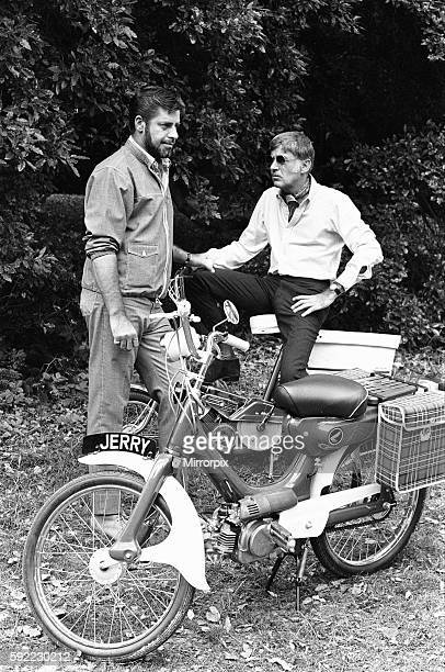 Director Jerry Lewis seen here with Peter Lawford whilst on location at Eastnor Castle Ledbury during filming 'One More Time' Circa 1st August 1969