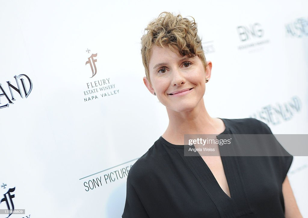 Director <a gi-track='captionPersonalityLinkClicked' href=/galleries/search?phrase=Jerusha+Hess&family=editorial&specificpeople=583993 ng-click='$event.stopPropagation()'>Jerusha Hess</a> arrives at the premiere of 'Austenland' at ArcLight Hollywood on August 8, 2013 in Hollywood, California.