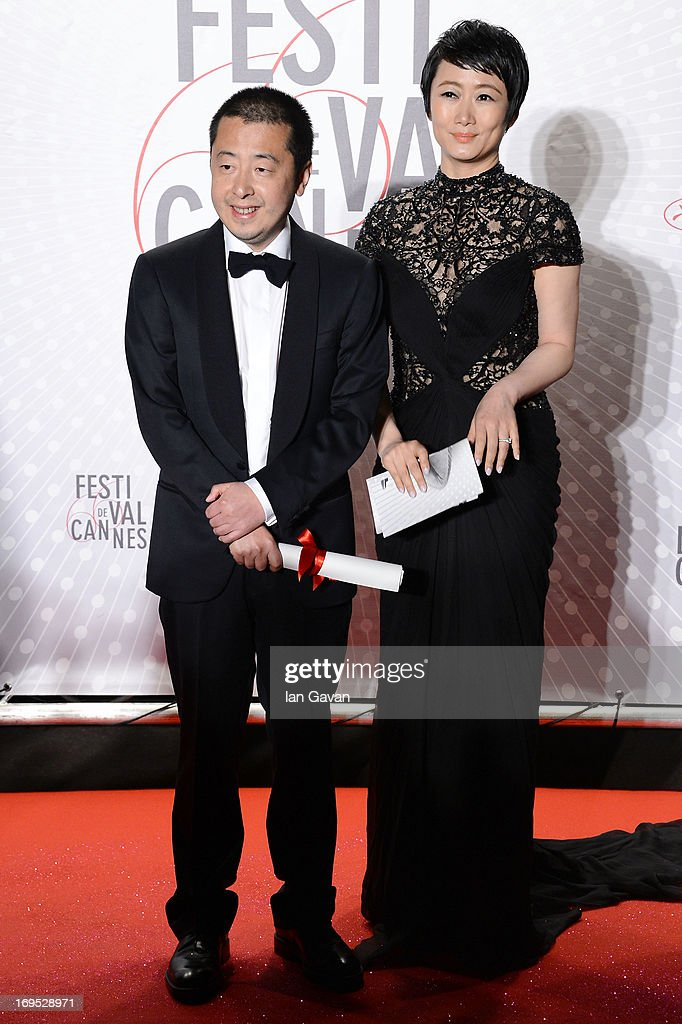 Director Jia Zhangke and actress Tao Zhao attendst he Palme D'Or Winners dinner during The 66th Annual Cannes Film Festival at Agora on May 26, 2013 in Cannes, France.