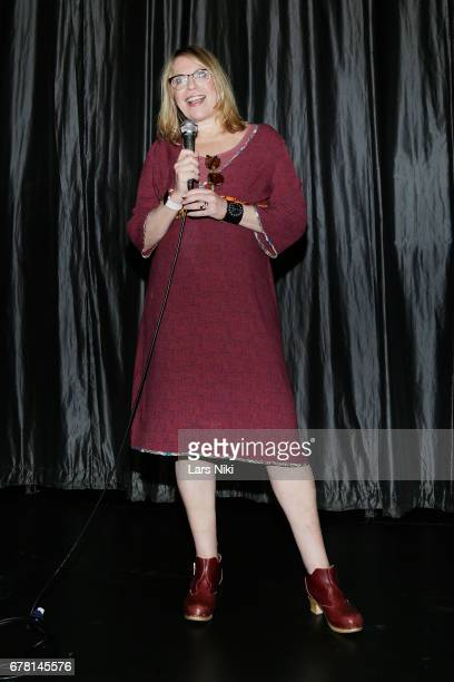 Director Jill Campbell addresses the audience during the MR CHIBBS Opening Night screening at the IFC Center on May 3 2017 in New York City