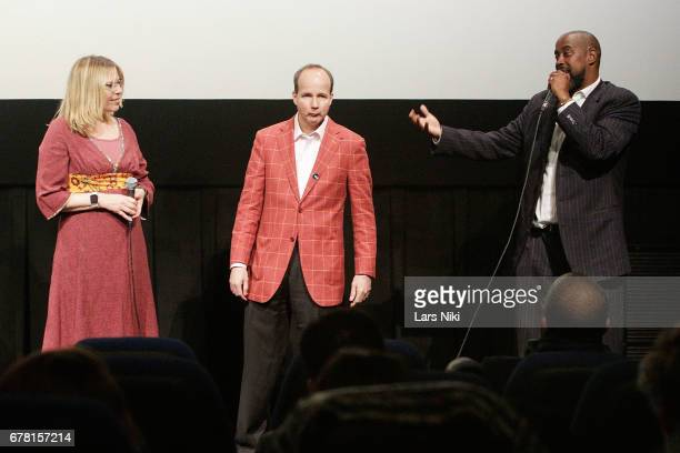 Director Jill Campbell Producer Barry Greenstein and Former NBA Player Kenny Anderson on stage during the MR CHIBBS Opening Night screening and QA at...