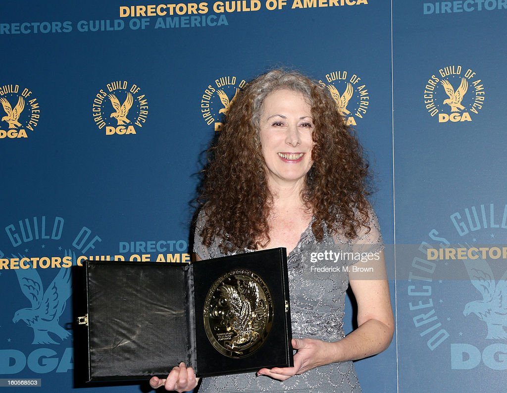Director Jill Mitwell, winner of the Outstanding Directorial Achievement in Daytime Serials for the 'One Life to Live' episode 'Between Heaven and Hell,' poses in the press room during the 65th Annual Directors Guild Of America Awards at Ray Dolby Ballroom at Hollywood & Highland on February 2, 2013 in Los Angeles, California.
