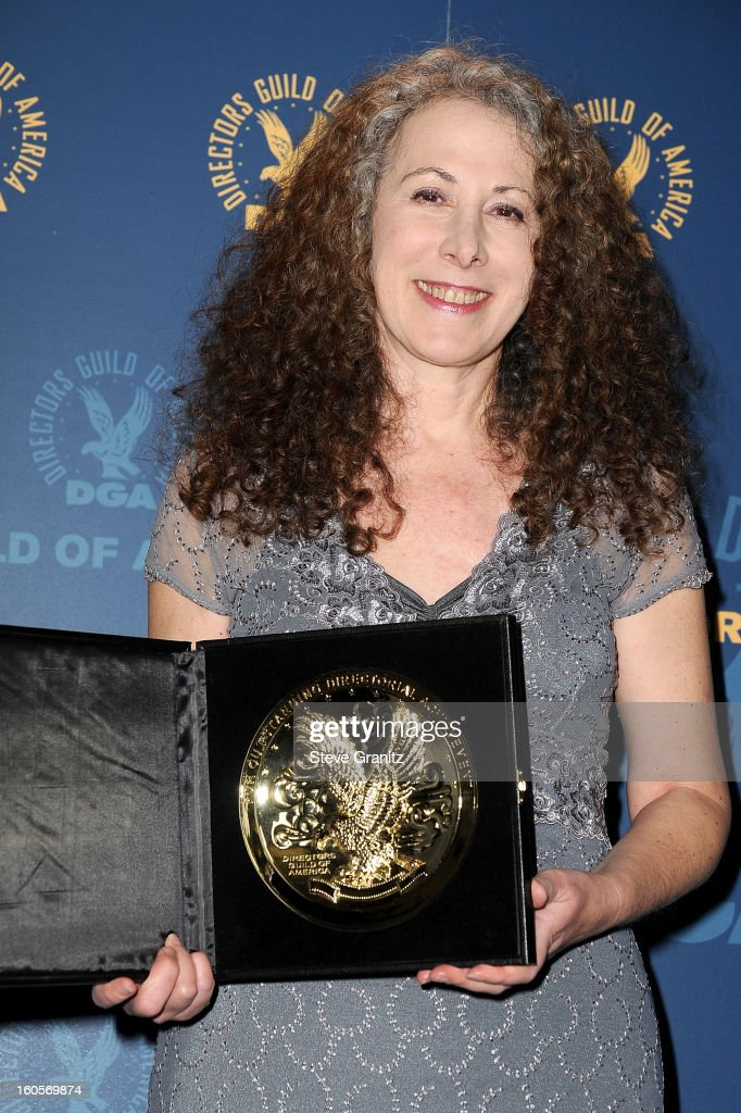 Director Jill Mitwell, winner of the Outstanding Directorial Achievement in Daytime Serials for the 'One Life to Live' episode 'Between Heaven and Hell,' poses in the press room at the 65th Annual Directors Guild Of America Awards at The Ray Dolby Ballroom at Hollywood & Highland Center on February 2, 2013 in Hollywood, California.
