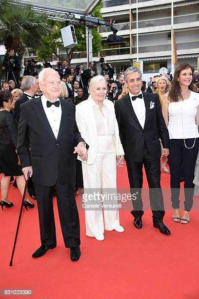 Director Jim Ivory actress Vanessa Redgrave and Distributor Charles S Cohen attend the 'Money Monster' premiere during the 69th annual Cannes Film...