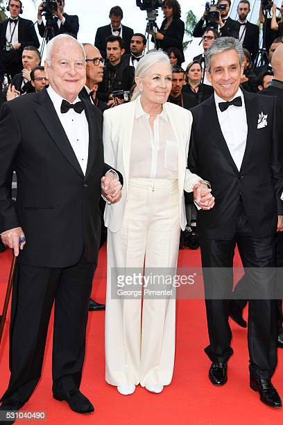 Director Jim Ivory actress Vanessa Redgrave and Distributor Charles S Cohen attend the screening of 'Money Monster' at the annual 69th Cannes Film...