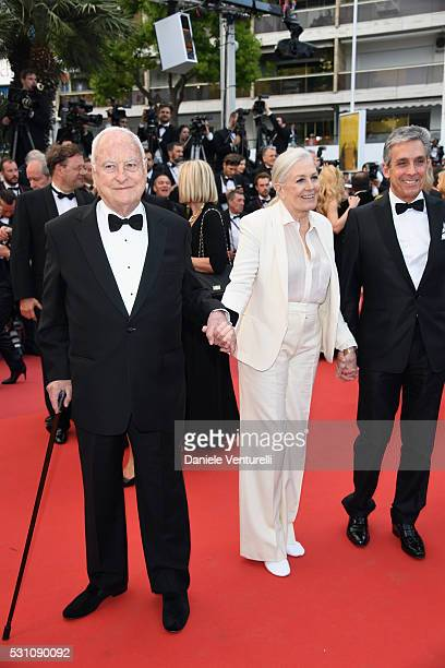 Director Jim Ivory actress Vanessa Redgrave and Distributor Charles S Cohen attends the 'Money Monster' premiere during the 69th annual Cannes Film...