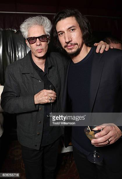 Director Jim Jarmusch and Adam Driver attend an afterparty for a Los Angeles Special Screening of 'Paterson' at Malo on December 6 2016 in Los...