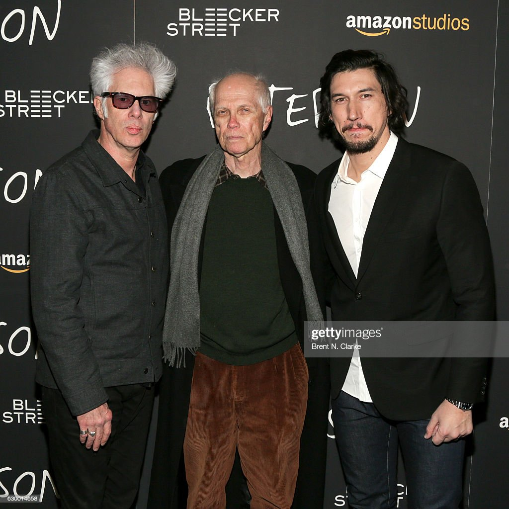 Director Jim Jarmusch, poet Ron Padgett and actor Adam Driver attend the 'Paterson' New York screening held at the Landmark Sunshine Cinema on December 15, 2016 in New York City.