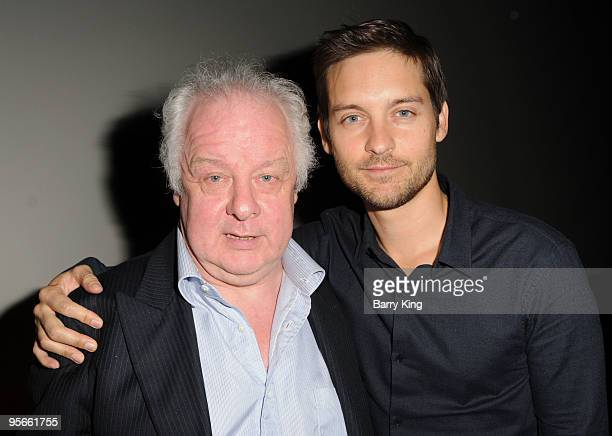 Director Jim Sheridan and actor Tobey Maguire attend American Cinematheque QA held at the Aero Theatre on January 8 2010 in Santa Monica California