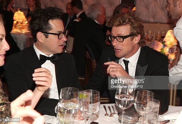 Director JJ Abrams and actor Simon Baker attend the 2012 Vanity Fair Oscar Party Hosted By Graydon Carter at Sunset Tower on February 26 2012 in West...