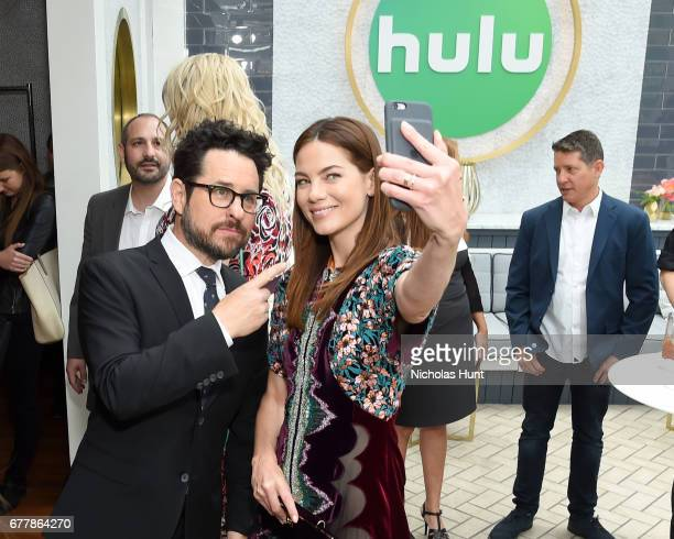 Director JJ Abrams and Actress Michelle Monaghan attend the Hulu Upfront Brunch at La Sirena Ristorante on May 3 2017 in New York City