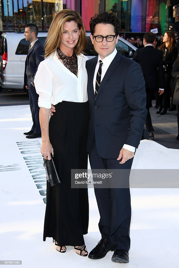 Director J.J Abrams and his wife <a gi-track='captionPersonalityLinkClicked' href=/galleries/search?phrase=Katie+McGrath+-+Vrouw+van+J.J.+Abrams&family=editorial&specificpeople=15284071 ng-click='$event.stopPropagation()'>Katie McGrath</a> attend the UK Premiere of 'Star Trek Into Darkness' at The Empire Cinema on May 2, 2013 in London, England.