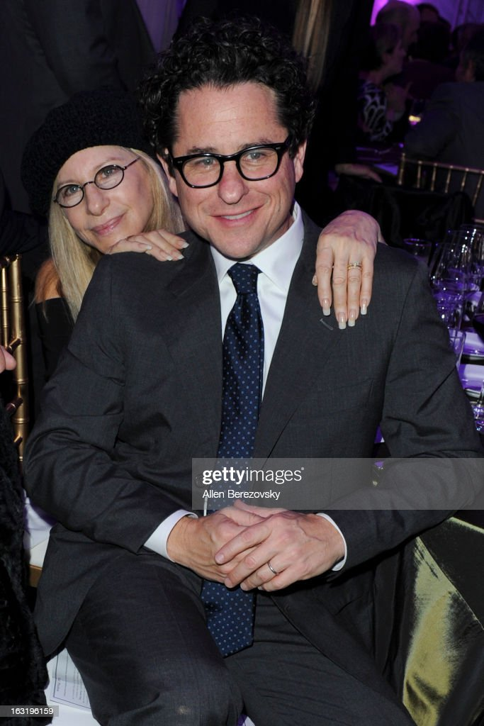 Director <a gi-track='captionPersonalityLinkClicked' href=/galleries/search?phrase=J.J.+Abrams&family=editorial&specificpeople=253632 ng-click='$event.stopPropagation()'>J.J. Abrams</a> (R) and recording artist <a gi-track='captionPersonalityLinkClicked' href=/galleries/search?phrase=Barbra+Streisand&family=editorial&specificpeople=200745 ng-click='$event.stopPropagation()'>Barbra Streisand</a> (L) attend UCLA Institute Of The Environment And Sustainability's 2nd Annual 'An Evening Of Environmental Excellence' - Inside on March 5, 2013 in Beverly Hills, California.