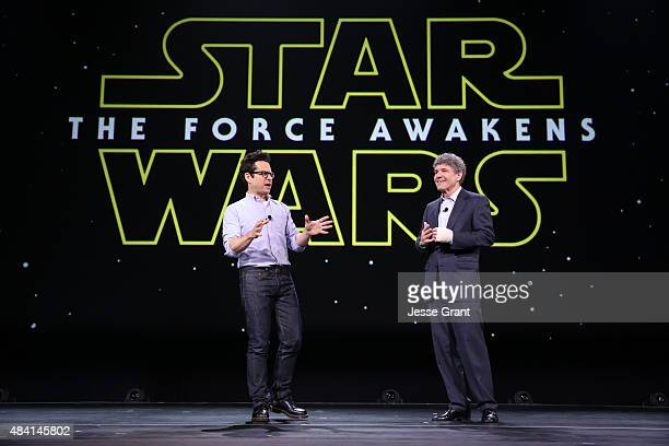 Director JJ Abrams of STAR WARS THE FORCE AWAKENS and Chairman of the Walt Disney Studios Alan Horn took part today in 'Worlds Galaxies and Universes...