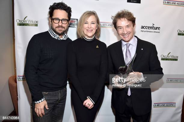 Director JJ Abrams presenter Catherine O'Hara and honoree Martin Short attend the 12th Annual USIreland Aliiance's Oscar Wilde Awards event at Bad...