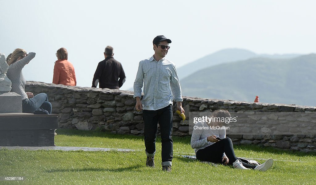Director JJ Abrams takes a stroll as Star Wars Episode VII continues filming on July 30, 2014 in Waterville, County Kerry, Ireland.
