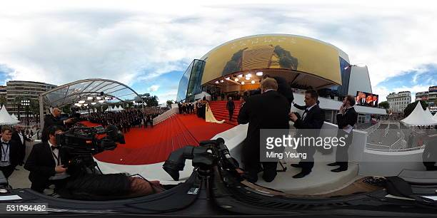 Director Jodie Foster actress Julia Roberts actor George Clooney and wife Amal Clooney attend the 'Money Monster' red carpet during the 69th Cannes...