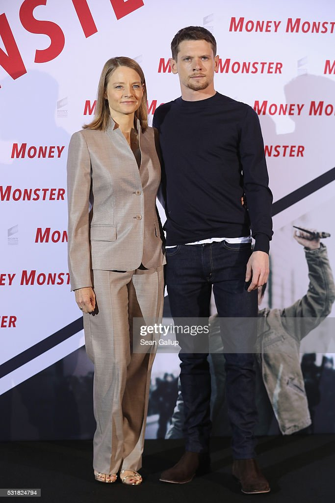 Director Jodie Foster and actor Jack O'Connell attend the photocall for the film 'Money Monster' at Hotel Adlon on May 17 2016 in Berlin Germany