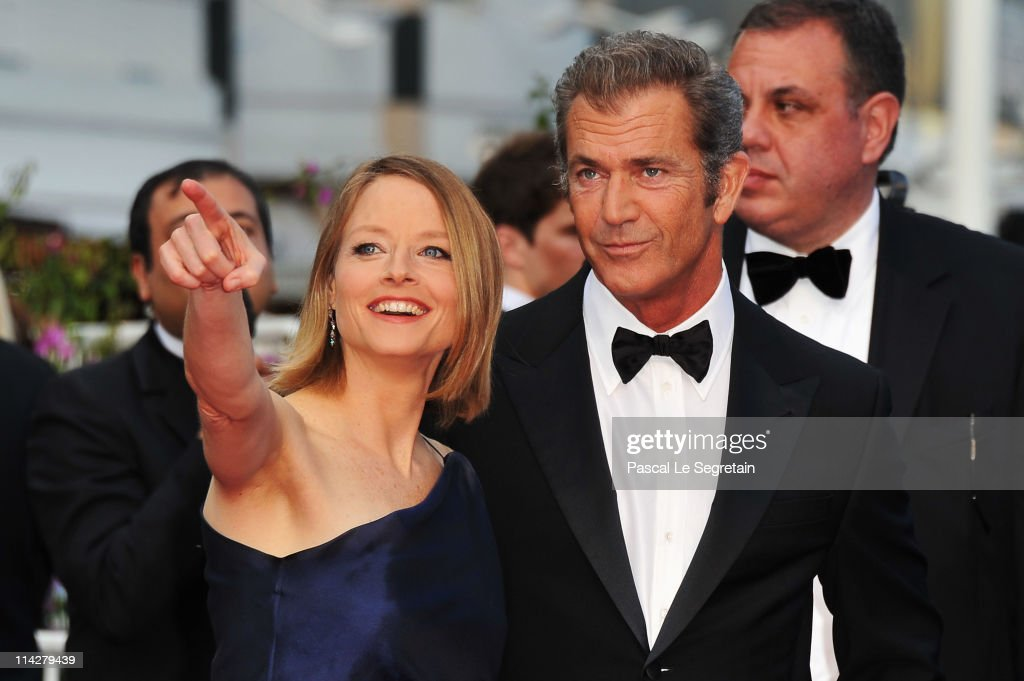 Director Jodie Foster and actor Mel Gibson attend 'The Beaver' premiere at the Palais des Festivals during the 64th Cannes Film Festival on May 17, 2011 in Cannes, France.