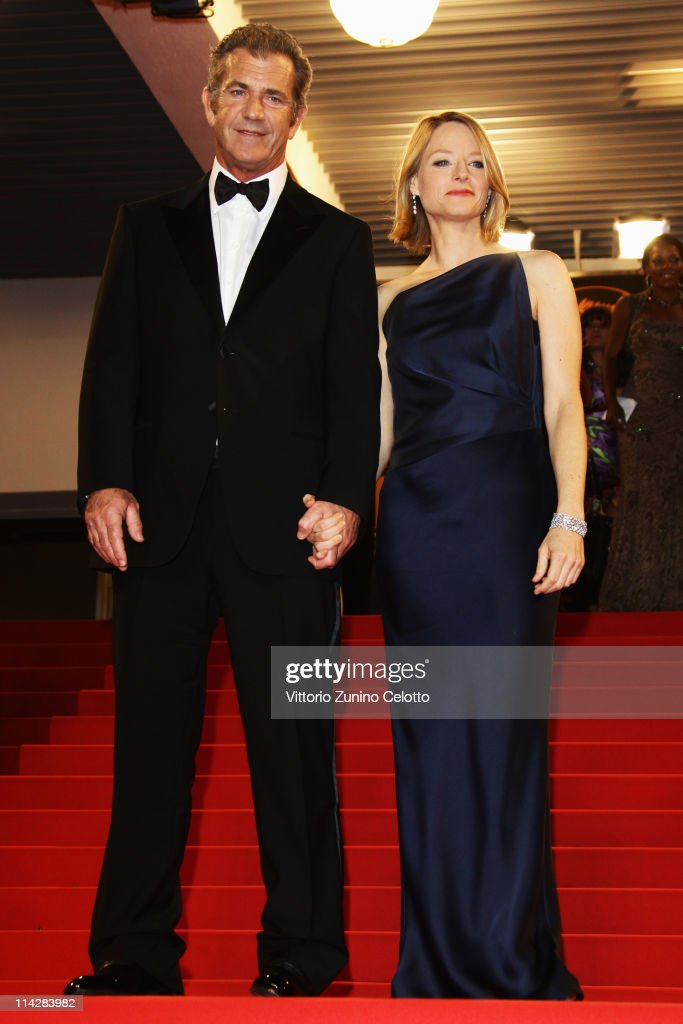 Director <a gi-track='captionPersonalityLinkClicked' href=/galleries/search?phrase=Jodie+Foster&family=editorial&specificpeople=204488 ng-click='$event.stopPropagation()'>Jodie Foster</a> and actor Mel Gibson depart 'The Beaver' premiere at the Palais des Festivals during the 64th Cannes Film Festival on May 17, 2011 in Cannes, France.