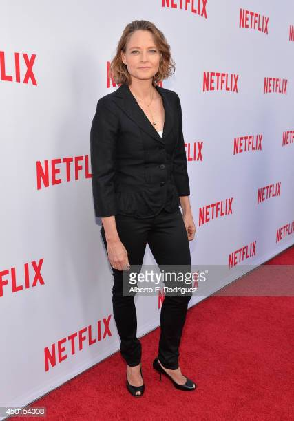 Director Jodie Foster attends Netflix's Academy Panel 'Women Ruling TV' at Leonard H Goldenson Theatre on June 5 2014 in North Hollywood California