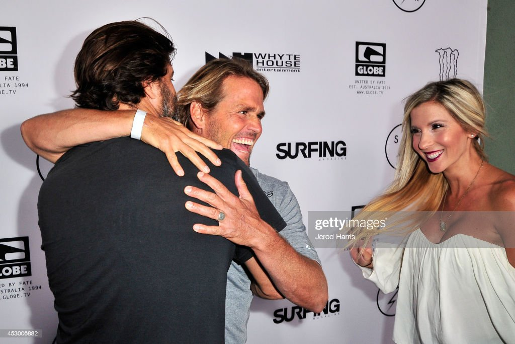 Director Joe G Damien Hobgood and Charlotte Hobgood attend 'Strange Rumblings In ShangriLa' world premiere at Pacific Air Center on July 31 2014 in...