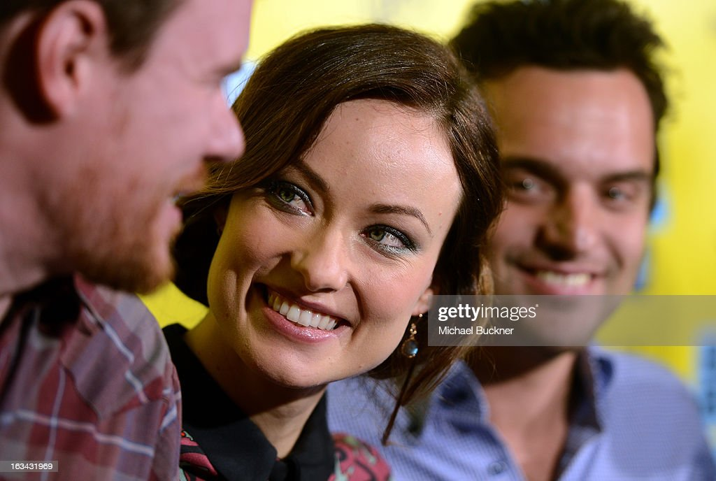 Director Joe Swanberg, actress <a gi-track='captionPersonalityLinkClicked' href=/galleries/search?phrase=Olivia+Wilde&family=editorial&specificpeople=235399 ng-click='$event.stopPropagation()'>Olivia Wilde</a> and actor Jake Johnson attend the World Premiere of 'Drinking Buddies' at the 2013 SXSW Music, Film + Interactive Festival at the Paramount Theatre on March 9, 2013 in Austin, Texas.