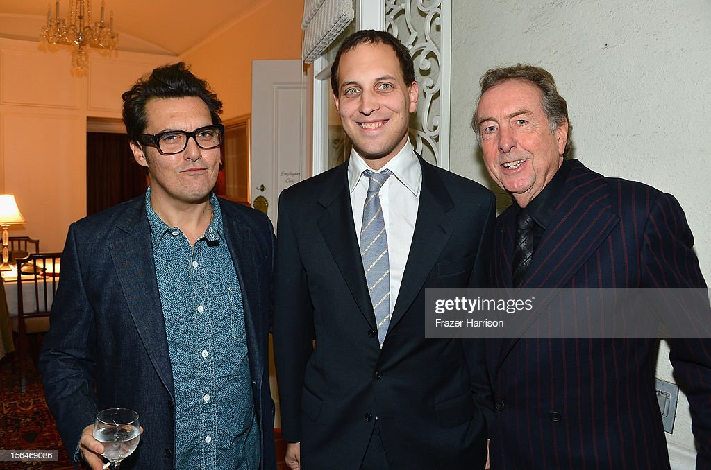 Director <a gi-track='captionPersonalityLinkClicked' href=/galleries/search?phrase=Joe+Wright+-+Director&family=editorial&specificpeople=771298 ng-click='$event.stopPropagation()'>Joe Wright</a>, <a gi-track='captionPersonalityLinkClicked' href=/galleries/search?phrase=Lord+Frederick+Windsor&family=editorial&specificpeople=159599 ng-click='$event.stopPropagation()'>Lord Frederick Windsor</a> and actor <a gi-track='captionPersonalityLinkClicked' href=/galleries/search?phrase=Eric+Idle&family=editorial&specificpeople=213355 ng-click='$event.stopPropagation()'>Eric Idle</a> attend a reception honoring Keira Knightly at British Consulate LA with Focus Features and British Film Commission on November 15, 2012 in Los Angeles, California.