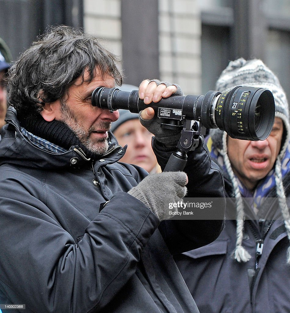 Director <a gi-track='captionPersonalityLinkClicked' href=/galleries/search?phrase=Joel+Coen&family=editorial&specificpeople=4292064 ng-click='$event.stopPropagation()'>Joel Coen</a> filming on location for 'Inside Llewyn Davis' on March 1, 2012 in New York City.