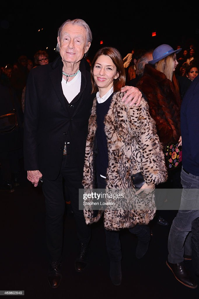 Director Joel Schumacher and Sofia Coppola attend the Anna Sui fashion show during MercedesBenz Fashion Week Fall 2015 at The Theatre at Lincoln...
