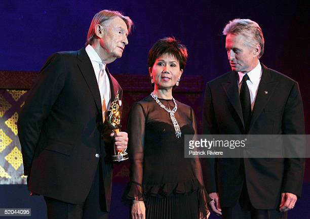 Director Joel Schumacher receives the 2005 Golden Kinnaree Awards for Career Achievement from JuthamassSiriwan Thai Governor for Tourism and Actor...