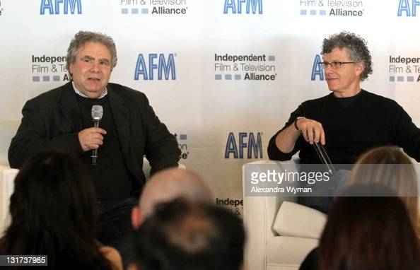Director John Alan Simon and director Jon Amiel speak onstage at the 2011 American Film Market Day 6 From the Trenches The Director's Viewpoint held...