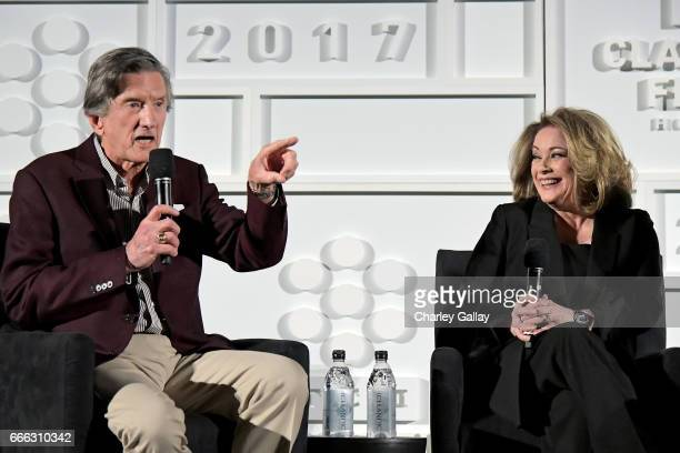 Director John Badham and actor Donna Pescow speak onstage at the screening of 'Saturday Night Fever' during the 2017 TCM Classic Film Festival on...