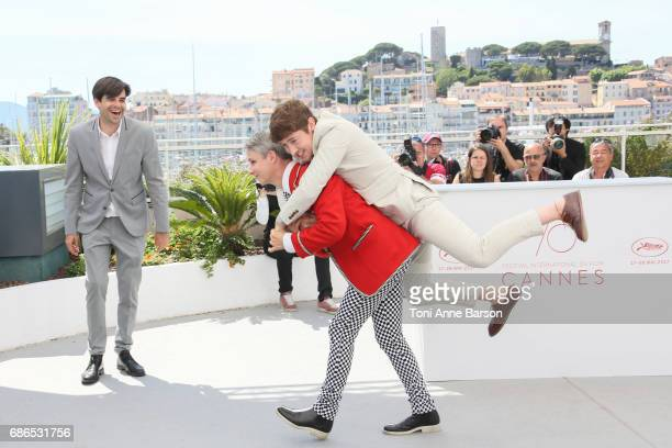 Director John Cameron Mitchell and actor Alex Sharp attend the 'How To Talk To Girls At Parties' Photocall during the 70th annual Cannes Film...