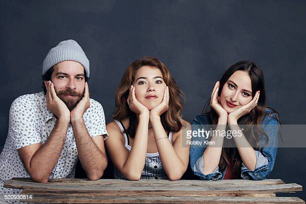 Director John Carchietta with actors Nichole Bloom and Fabienne Therese 'Teenage Cocktail' are photographed for The Wrap on March 13 2016 in Austin...