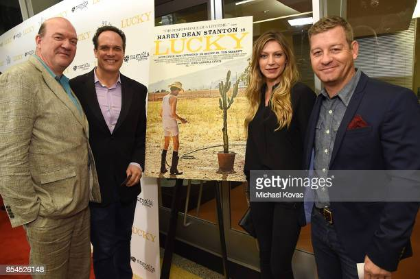 Director John Carroll Lynch and actors Diedrich Bader Nic Bishop and Jes Macallan attend the Los Angeles premiere of 'Lucky' at Linwood Dunn Theater...