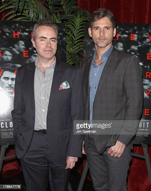 Director John Crowley and actor Eric Bana attend a party following the 'Closed Circuit' screening at the Tribeca Grand Hotel Screening Room on August...